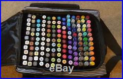 Job Lot 141 Spectrum Noir Professional Pens & Aqua Pens All Duel Tip Carry Case