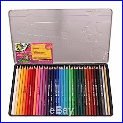 Jolly Supersticks Premium European Colored Pencils with Tin Carrying Case Set