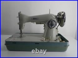 Jones Brother S/stitch Heavy Duty Sewing Machine In Carry Case G19