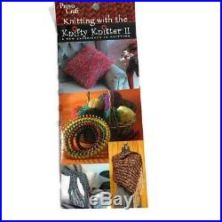 KNIFTY KNITTER ROUND LOOM SERIES PROVO CRAFT 3 ring SET carrying case