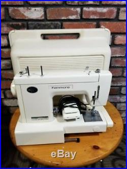 Kenmore Model 385 10 Stitch Sewing Machine PEDAL with HARD CARRY CASE