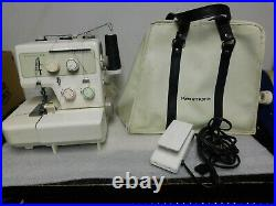 Kenmore Overlock 3/4 Differential Serger Sewing Machine WORKING vtg carry case
