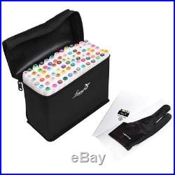 L'émouchet Dual Tips Art Animation Twin Marker Pens with Carrying Case for
