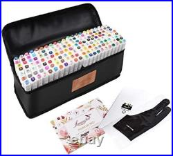 L'émouchet Dual Tips Art Animation Twin Marker Pens with Carrying Case for Art