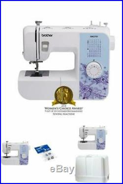Lightweight Sewing Machine with 27 Stitches, 1-Step AutoSize Buttonholer (White)