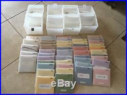 Lot of 44 Close to My Heart Acrylic Stamps, 5 Accessories, 4 Carrying Cases