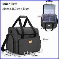 Luxja Sewing Machine Bag with Detachable Dolly, Carry Case for Sewing Machine