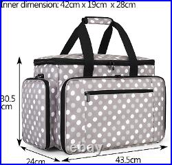 Luxja Sewing Machine Carrying Bag with Removable Pad, Travel Case for Sewing and