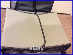 MIMI Scrapbook Tote Art Travel Organizer Craft Bag Carrying Case Tan 12x15x3