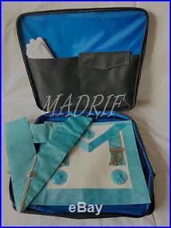 Masonic Craft MASTER MASON Apron Collar WITH Soft Carrying Case