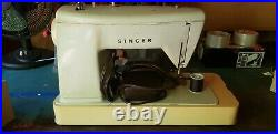 Mint Green Singer Touch & Sew Model 417 Sewing Machine With Pedal and carry case