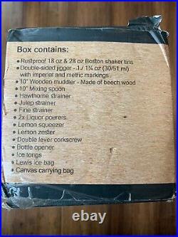Mixology & Craft 17PC Bartender Travel Kit Bag with Bar Tools