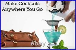 Mixology & Craft Travel Bartender Kit Bag Professional 17-piece Bar Tool