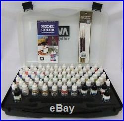 Model Color Hobby Range Box Set (72 colours + 3 brushes + carry case)- VAL70172