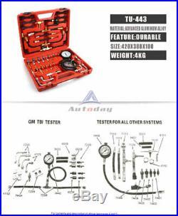 NEW 0-140 PSI Manometer Fuel Injection Craft Probe Gauge Test Adapter Kit/TU-443