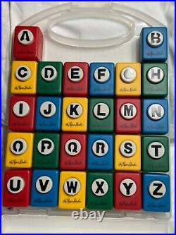 NEW Alphabet Punch Set w carrying case A-Z English 26 Craft by the Paper Studio