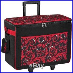 NEW Brother Sewing CATOTER Rolling Tote Bag with Logo Luggage Tag Carrying Case