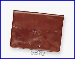 New Levi's $148 Crafted Brown Leather Laptop Computer Flap Carrying Case