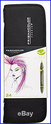 NEW Prismacolor Premier Double-Ended Art Markers, Asstd. 24pc with Carrying Case