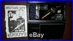 NWOT BADGER PROFFESSIONAL Airbrush Kit With Black Carrying Case Model #150