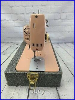 Necchi Esperia Sewing Machine Pink with Pedal Carrying Case + Extras