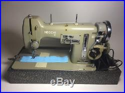 Necchi Mira Sewing Machine, Vintage 1951, with manual, parts, carrying case