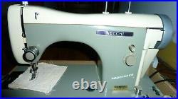 Necchi Super Nova Sewing Machine Vintage Attachments Portable Carrying Case