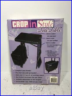 New CROP IN STYLE Tote Table with Carrying Case RARE
