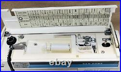 New Home School Mate SS-2015 Sewing Machine w Foot Pedal Hard Carry Case Tested