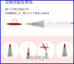 Ohuhu Illustration Marker 216 Pastel Colors & Blender Pen With Carrying Case New