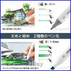 Ohuhu Marker Pen 100 Color Comic Oily Alcohol Marker With Carrying Case