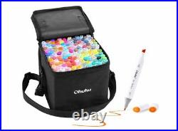 Ohuhu Marker Pen 120 Colorpen Set For Comic With Blender Pen & Carrying Case