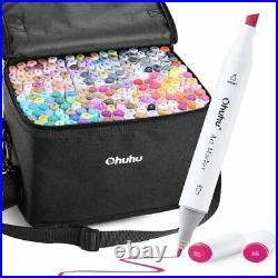 Ohuhu Marker Pen 200 Color pen Set Comic With Blender Pen & Carrying Case JP F/S