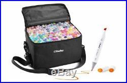 Ohuhu Marker Pen 200 Colorpen Set For Comic With Blender Pen & Carrying Case