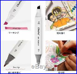 Ohuhu Marker Pen 80 Color Set For Comics With Carrying Case Black From Japan