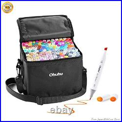 Ohuhu Marker Pen Set 160 Colors Alcohol Marker with Carrying Case From Japan