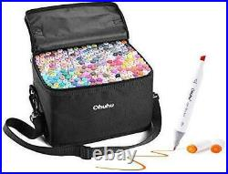 Ohuhu Marker Pen Set 200 Colors Alcohol Marker w Carrying Case NEW Japan
