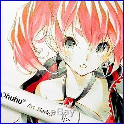Ohuhu illustration Marker 160 Colors Brush Type With Blender Pen & Carrying Case