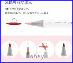 Ohuhu illustration Marker 48 Colors Brush Type With Blender Pen & Carrying Case
