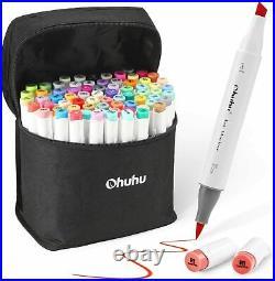 Ohuhu illustration Marker Brush Type With Blender Pen & Carrying Case 72 Colors