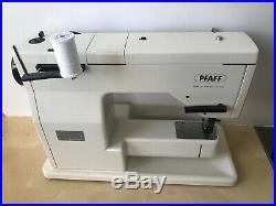 PFAFF 1222E W IDT SYSTEM SEWING Machine Foot Pedal & Carrying Case German Made