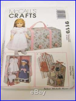 Pattern American Girl Carry Case and Accessories 1997 OOP