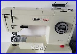 Pfaff 1222E Sewing Machine Includes Carrying Case and Accessories Tested