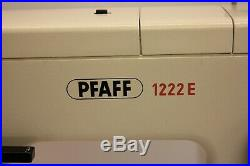 Pfaff 1222e Sewing Machine With Carrying Case And Pedal