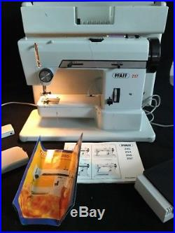 Pfaff 297 sewing machine with hard carry case and Foot Control good working