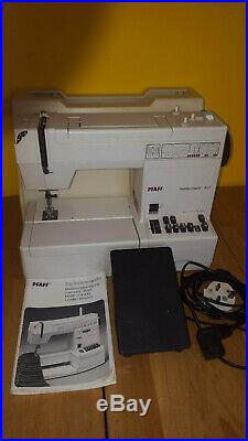 Pfaff 917 sewing machine with hard carry case and pedal VGC