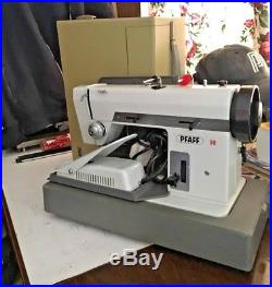 Pfaff 96 Sewing Machine With Zigzag And Carry Case With Key
