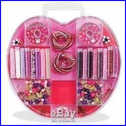 Pink & Purple Bead Kit in Apple-Shaped Carrying Case. Bead Bazaar, USA