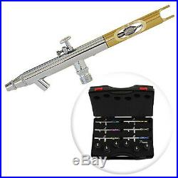 PointZero PZ-1200XS Dual-action Six Airbrush Set with Carry Case. Best Price