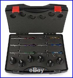 PointZero PointZero PZ-1200XS Dual-action Six Airbrush Set with Carry Case